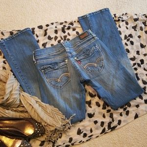 524 Too Superlow Destroyed Boot Cut Jeans Size 5M